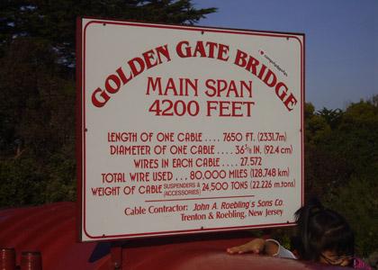 Golden Gate Bridge, Details